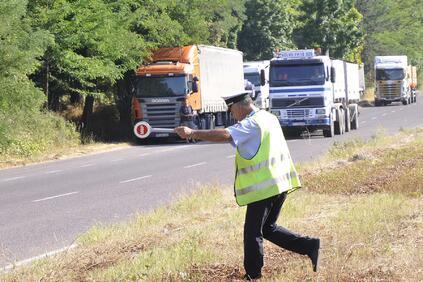Акцията на Пътна полиция е по линия на международна операция